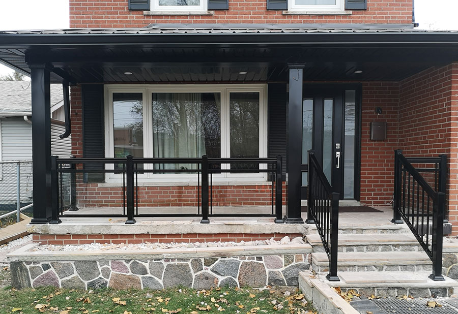 GR2 Glass Railing Front Porch