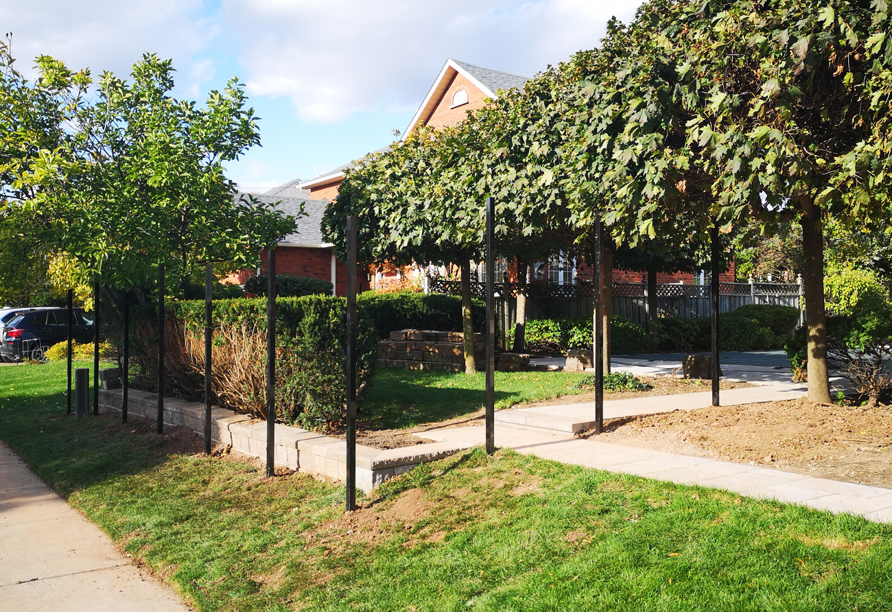 inground fence post install