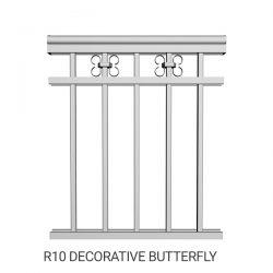 R10 Decorative butterfly aluminum railing