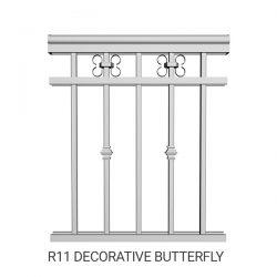 R11 Decorative butterfly aluminum railing