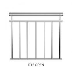 R12 Open Aluminum Railing