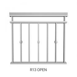 R13 Open Aluminum Railing