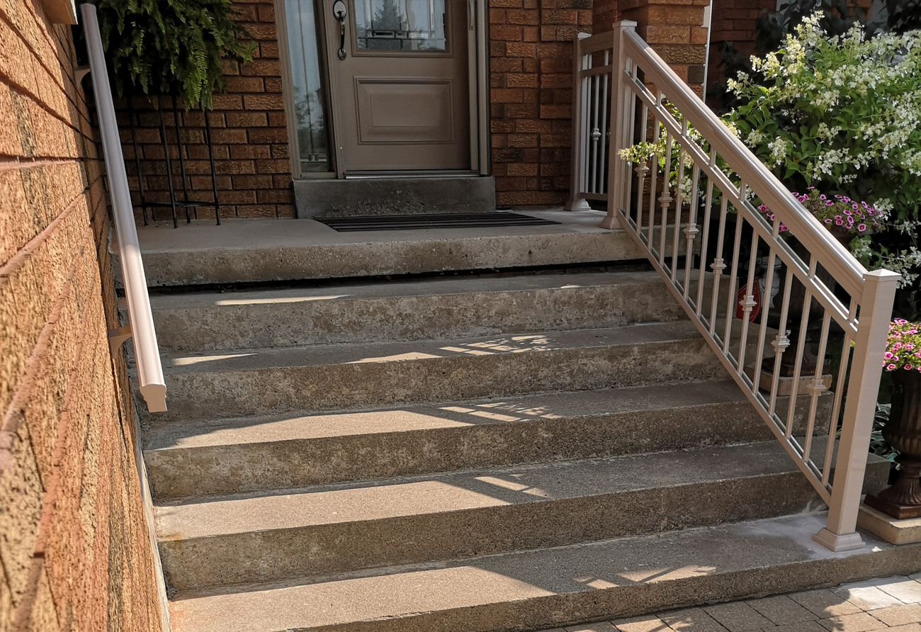 R13 Beige Railings for Front Entry