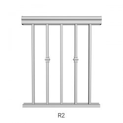 R2 aluminum railing