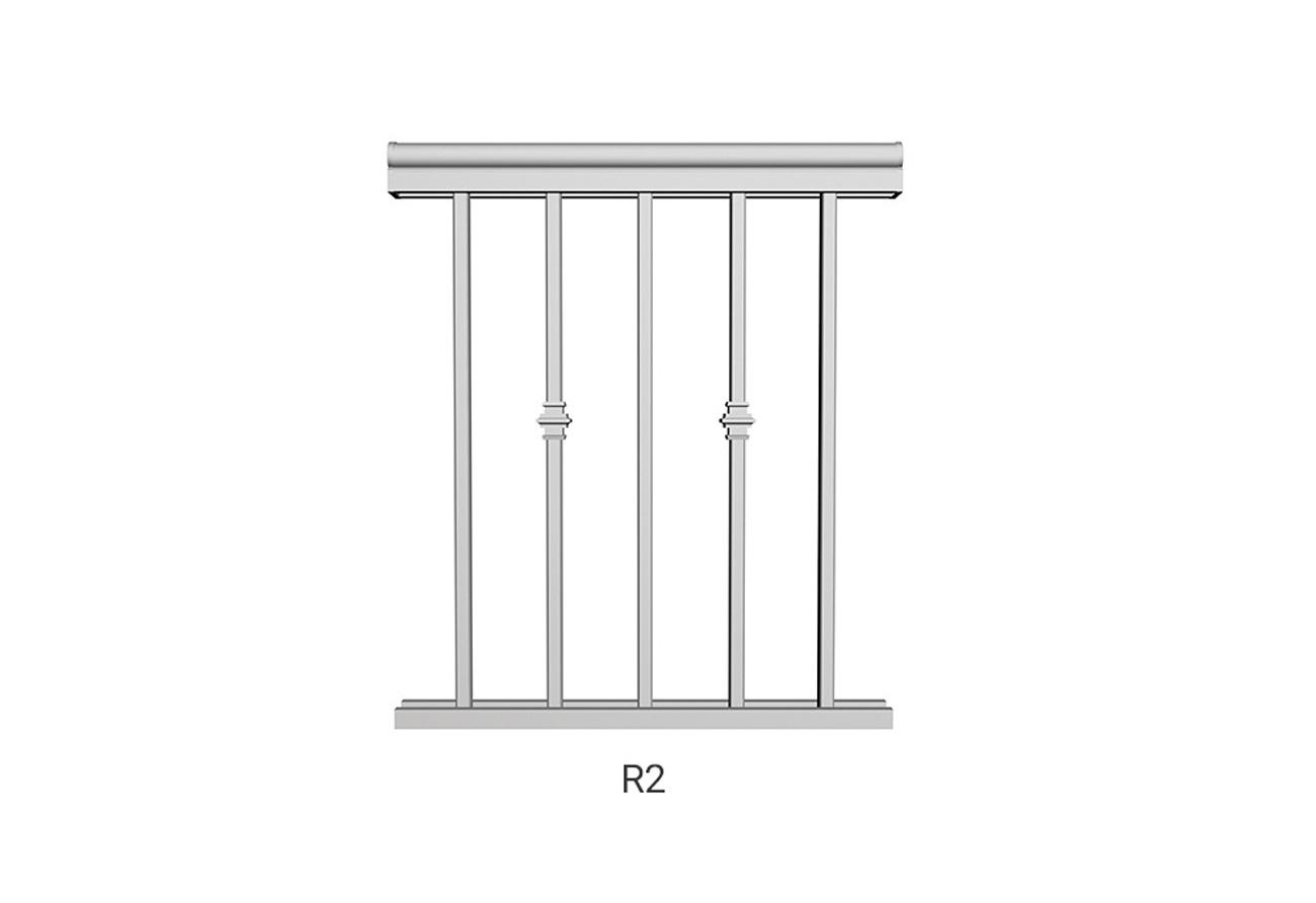 R2 aluminum railings