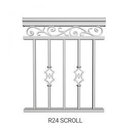 R24 Scroll Aluminum Railing