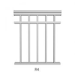 R4 aluminum railing