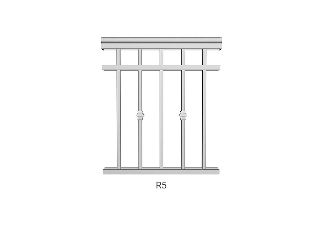 R5 aluminum railing
