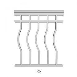 R6 aluminum railing