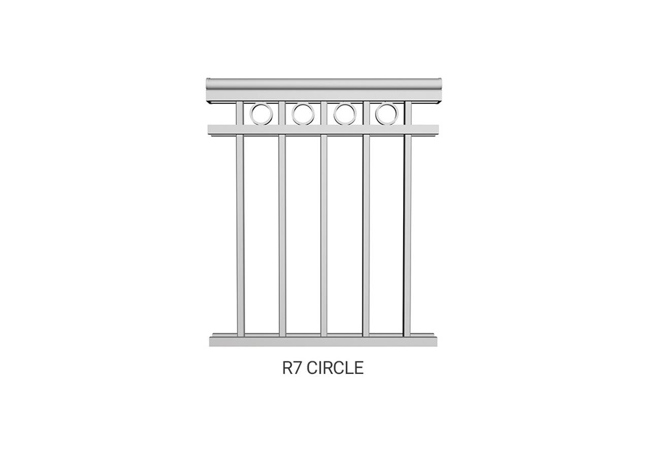 R7 Circle Railing
