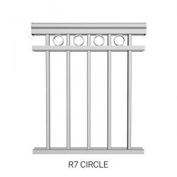 R7 Circle aluminum railing