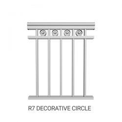 R7 Decorative Circle aluminum railing