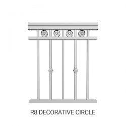 R8 Decorative Circle aluminum railing