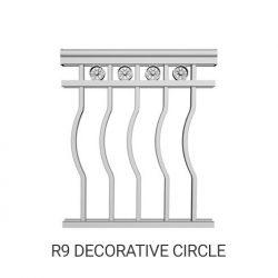 R9 Decorative butterfly aluminum railing