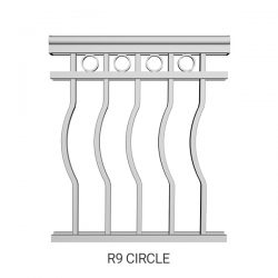 R9 Circle aluminum railing