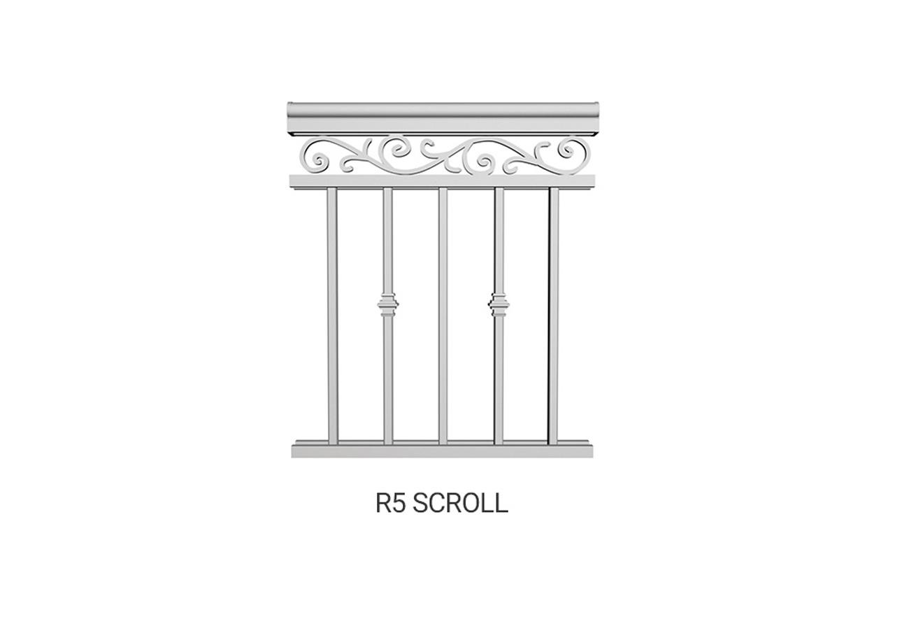 R5 Scroll Railing